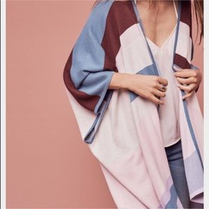 Anthropologie Tracy Reese Color Block Poncho Wrap